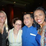 Laura, Past President Colleen, Ramin and Past President Olympia
